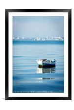 Boat in Poole Harbour, Framed Mounted Print