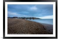 Bowleaze Cove at Winter, Framed Mounted Print