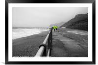 West Bay Dorset Two Runners, Framed Mounted Print