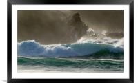 Clogher Waves, Framed Mounted Print