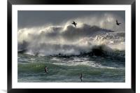 Waves on Clogher Beach, Framed Mounted Print