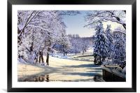 Winter Snow, Framed Mounted Print