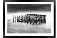 Abandoned jetty Redcar, South Gare, Framed Mounted Print