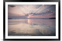 Sunday Sandbanks Sunset, Framed Mounted Print