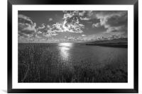View from the clifftop, Framed Mounted Print