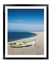Boat on the beach, Framed Mounted Print