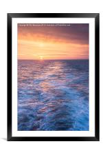 Sunset at Sea, Framed Mounted Print