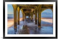 Under the pier at Boscombe, Framed Mounted Print