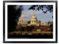St Paul's Cathedral, Framed Mounted Print