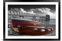 Red Boats, Framed Mounted Print