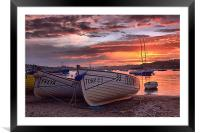 Teignmouth sunset 2, Framed Mounted Print