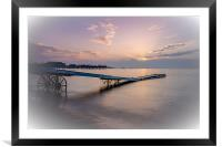 Paignton in pink, Framed Mounted Print