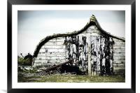 Northumbrian Boat Shed, Framed Mounted Print