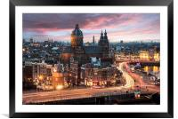 Amsterdam sunset, Framed Mounted Print