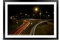 Night time Driving, Framed Mounted Print