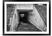 Main Road Underpass, Framed Mounted Print