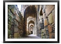 Linlithgow Palace Walkway, Framed Mounted Print