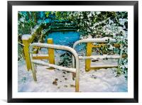 Snowy Gateway To The Trail, Framed Mounted Print