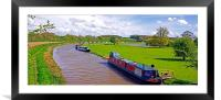 Ashby-de-la-Zouch Canal, Framed Mounted Print