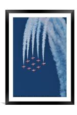 RAF Red Arrows Display Team, Framed Mounted Print