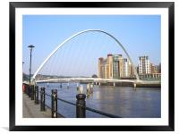 Newcastle Quayside in the Sun!, Framed Mounted Print