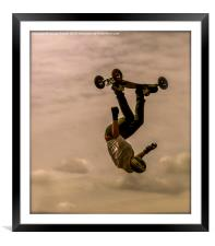 Mountainboarder, Framed Mounted Print
