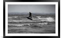 Kite Surfing Scotland, Framed Mounted Print