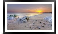 Hengistbury Head Sunset, Framed Mounted Print