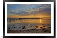 Brownsea Island at Sundown, Framed Mounted Print