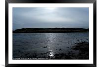 STORM APPROACHING SUN GLIMPSE, Framed Mounted Print