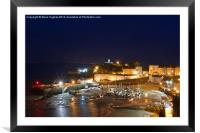 Tenby-Pembrokeshire-Wales night time, Framed Mounted Print