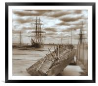 Spars, Hulls, and Dreams, Framed Mounted Print