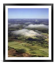 Microlight View, Framed Mounted Print