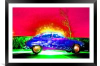 Saabs Delight, Framed Mounted Print