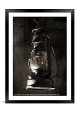 The old Oil lamp, Framed Mounted Print