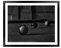 The old Pool Table, Framed Mounted Print