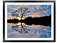 Sunset Reflections, Framed Mounted Print
