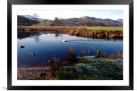 The River and mountains of Cumbria, Framed Mounted Print
