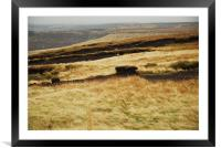 ON THE MOORS, Framed Mounted Print