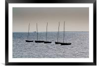 Dinghies off of Leigh Essex, Framed Mounted Print