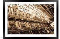 Leadenhall Market London, Framed Mounted Print