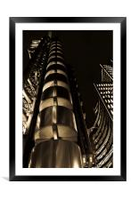 Lloyd's Building London, Framed Mounted Print