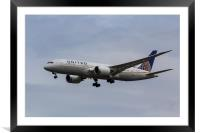 United Airlines Boeing 787, Framed Mounted Print