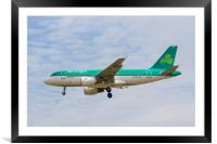Aer Lingus Airbus A319, Framed Mounted Print