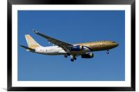 Gulf Air Airbus A330, Framed Mounted Print