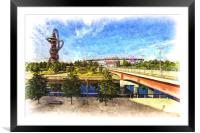 West Ham Olympic Stadium And The Arcelormittal Orb, Framed Mounted Print