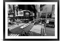 Stretch Limousine Times Square, Framed Mounted Print