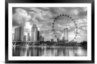 Singapore Flyer Wheel, Framed Mounted Print