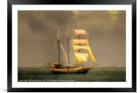 Sailing Ship In A Storm, Framed Mounted Print