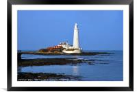 St Marys Lighthouse , Framed Mounted Print